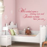 Baby Wall Sticker - We Wished Upon A Shining Star and Twinkle Twinkle ~ Decals